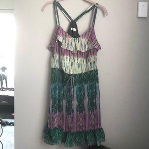 Gorgeous jewel toned ruffle dress